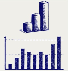 Business graph vector