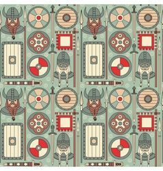 Seamless viking pattern 02 vector