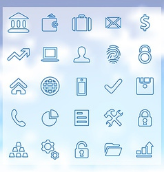 25 bank icons set vector