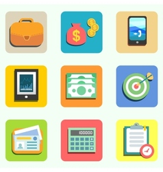 Finance flat icons vector