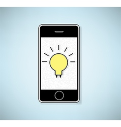 Phone show light bulb idea background vector