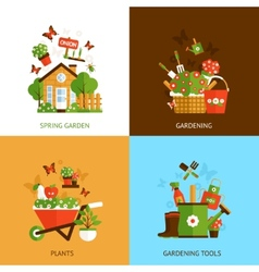 Gardening design concept vector