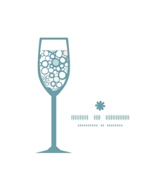 Colorful bubbles wine glass silhouette pattern vector