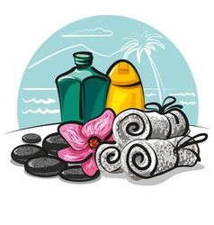 Spa products collection vector