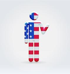 Usa symbolic citizen icon vector