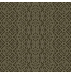 Khaki colors art deco style curve pattern design vector