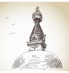 Buddhist stupa vector