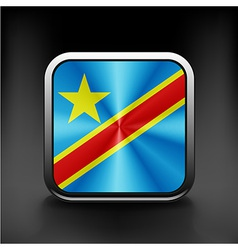 Flag of the democratic republic of the congo vector