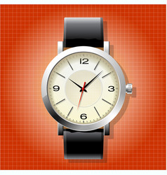 Classic analog mens wrist watch vector