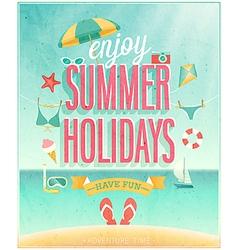 Summer holydays vector