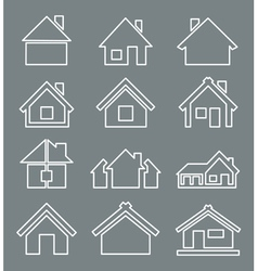 Outline house icon vector