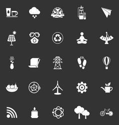 Clean concept icons on gray background vector