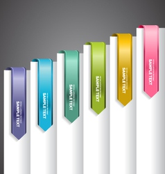 Bookmark labels arrow vector