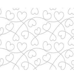 Hearts background valentines day seamless texture vector