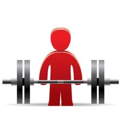 Bodybuilder and weight vector