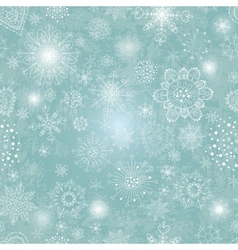 Blue background with snowflake vector
