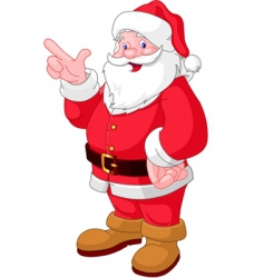 Christmas santa pointing vector