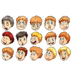 Group of heads vector