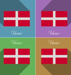 Flags military order malta set of colors flat vector