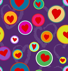Seamless hand drawn heart pattern vector