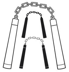 Nunchaku weapon vector
