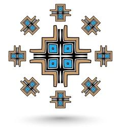 Aztec cross mandala vector