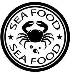 Sea food crab stamp vector