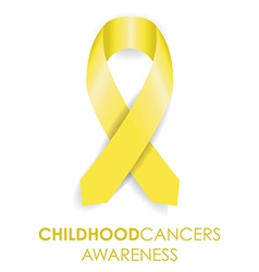 Childhood cancer ribbon vector