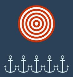 Anchor ship target concept vector