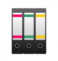 Three office folders vector