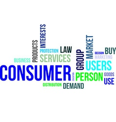 Word cloud consumer vector