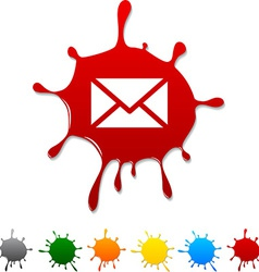 Mail blot vector