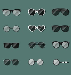 Set of realistic glasses vector