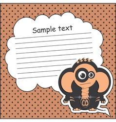 Card with elephant vector