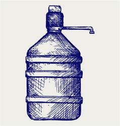 Bottle water vector