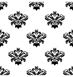 Foliate arabesque pattern for damask vector