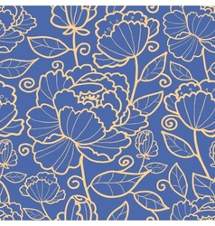 Royal flowers and leaves seamless pattern vector