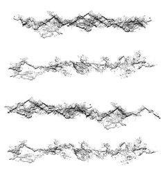 Set of grunge textures black and white scratches vector
