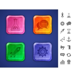 Mosaic colorful buttons vector