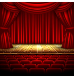 Movie theatre design vector