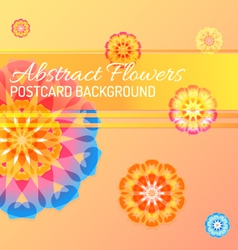 Color abstract flowers background vector