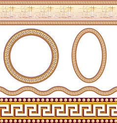 Greek border patterns vector