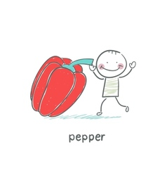 Pepper and people vector