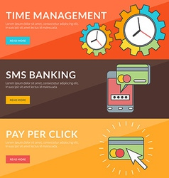 Flat design concept for time management sms vector