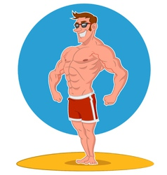 Posing bodybuilder vector