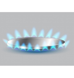 Gas stove burner vector