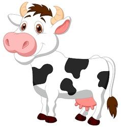 Cute cow cartoon vector