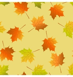 Seamless background autumn maple leaves maple leaf vector