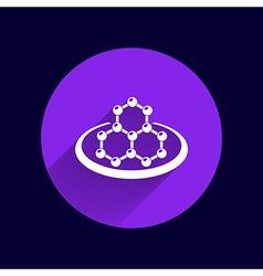 Icon molecular research chemistry model atom vector