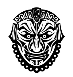Ancient tribal mask vector